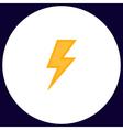 lighting bolt computer symbol vector image