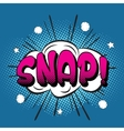 Snappop art retro style vector image