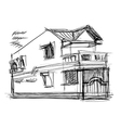 sketch of house vector image