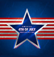 4th july background with star and red stripes vector image vector image