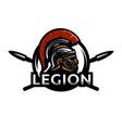 a warrior of rome legionary logo vector image vector image