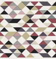 abstract retro style triangles pattern with lines vector image