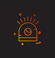 alarm icon design vector image vector image