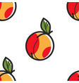 armenian ripe peach seamless pattern fruit armenia vector image vector image
