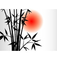 bamboo background and sun vector image vector image