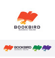 book bird logo design vector image vector image