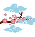 branch with pink flowers vector image vector image
