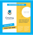 candy company brochure template busienss template vector image