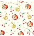 Cartoon fruits pattern vector | Price: 1 Credit (USD $1)