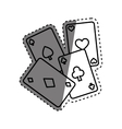 Casino cards game concept vector image vector image