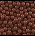 chocolate balls background vector image vector image