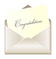 Congratulations card vector image vector image
