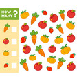 counting game for children count how many fruits vector image vector image