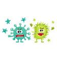 couple of virus germ bacteria microorganism vector image vector image