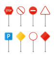 creative of road sign isolated vector image vector image