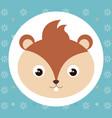 cute chipmunk head tender character vector image