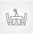 dining table icon sign symbol vector image