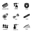 fix machinery icons set simple style vector image vector image
