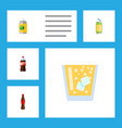 flat icon drink set of beverage bottle drink and vector image vector image