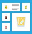 flat icon drink set of beverage bottle drink and vector image