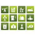 Flat Oil and petrol industry icons vector image