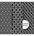 geometric pattern in op art design Black and vector image
