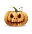 halloween cartoon pumpkin smiling orange pumpkin vector image vector image