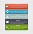 Infographic design with rectangles vector image
