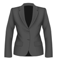 Ladies black suit jacket vector image