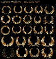 laurel wreath - golden set vector image vector image