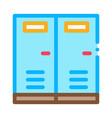 locker rooms icon outline vector image vector image