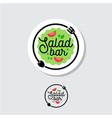 logo salad bar cafe restaurant emblem vector image vector image