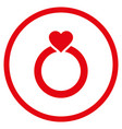 love ring rounded icon vector image vector image