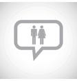 Man woman grey message icon vector image vector image