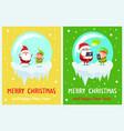 merry christmas delight santa vector image vector image