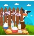 milk food concept vector image vector image