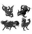 monsters from asian literature vector image vector image