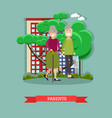 parents concept in flat style vector image vector image