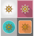 pirate flat icons 09 vector image vector image
