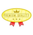 Premium quality label icon cartoon style vector image vector image
