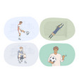 professional football player soccer ball and vector image vector image