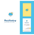 raining creative logo and business card vertical vector image vector image
