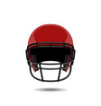 red american football helmet on white background vector image vector image
