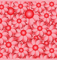 red flower pattern with overlapping petals vector image vector image
