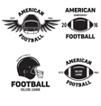 Retro Vintage American Football emblems set logos vector image