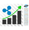 ripple growth trend flat icon with bonus vector image vector image