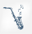 saxophone sketch isolated design vector image vector image