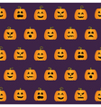 Seamless Halloween Pumpkin Faces pattern vector image vector image