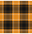 seamless orange black tartan with white stripes vector image vector image