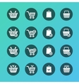 Set of shopping cart icons vector image vector image
